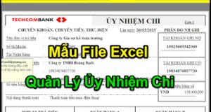 Tải File Excel Kế Toán Quản Lý Ủy Nhiệm Chi