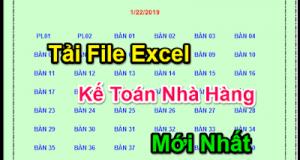 Tải File Excel Kế Toán Nhà Hàng Mới Nhất