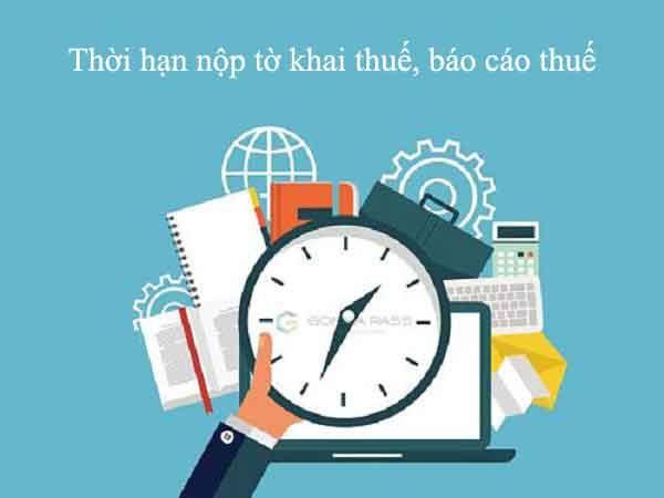 Thời hạn nộp tờ khai nộp tiền thuế cách tính tiền chậm nộp mới nhất 2019